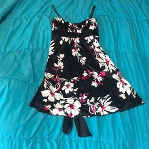 Short spaghetti strap floral dress